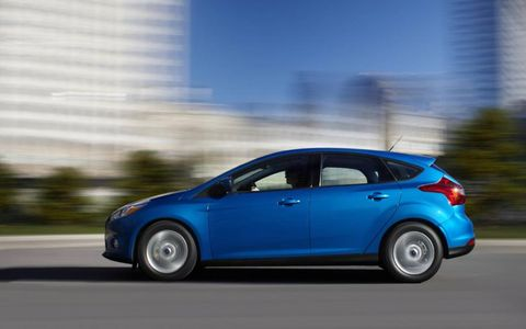 Our 2012 Ford Focus Titanium hatchback tester was equipped with a five-speed manual transmission.