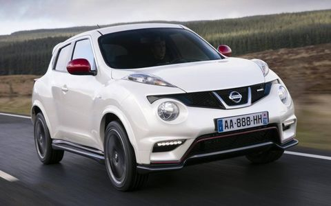A modified exterior that is more aggressive is also more aerodynamic with a 37 percent improvement in downforce over the standard Juke.