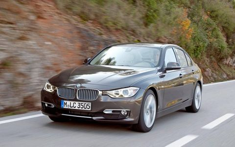The 2012 BMW 335i sedan is powered by a 3.0-liter turbocharged I6 making 300 hp and 300 lb-ft of torque.