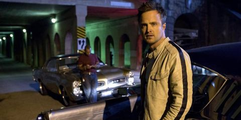 """Aaron Paul stars as Tobey Marshall in """"Need For Speed,"""" out March 14th."""