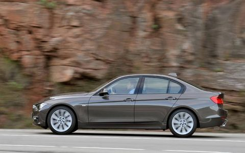 During our tests, the 2012 BMW 335i sedan went from 0-60 mph in 5.2 seconds and did the quarter-mile in 13.9 seconds at 104.1 mph.