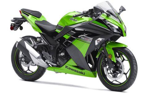 The all new 2013 Kawasaki Ninja 300 impressed at the motorcycle show.
