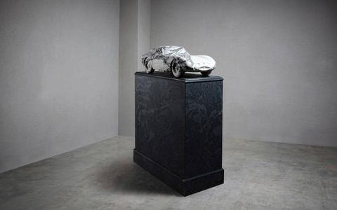 Lapicida's marble 250 GTO is a little over 1/3 the size of the real thing. It also costs considerably less.