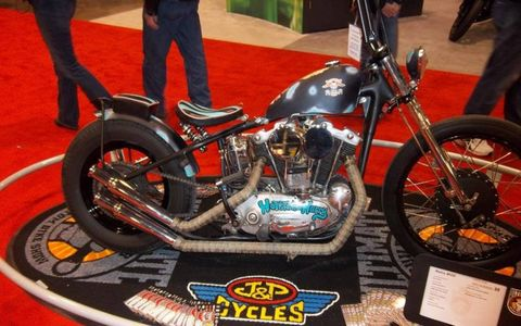 A1968 Sportser on display by J&P Cycles at the 2013 motorcycle show.