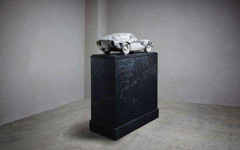 The marble GTO looks lonely on that stand. Perhaps one could commission a basalt Ford GT40?