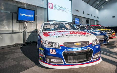 The new Chevy SS was on display on the 11th floor of the A. Alfred Taubman Center for Design Education in Detroit on Tuesday.