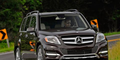 The 3.5-liter V6 in the 2013 Mercedes-Benz GLK350 makes 302 hp and 273 lb-ft of torque.