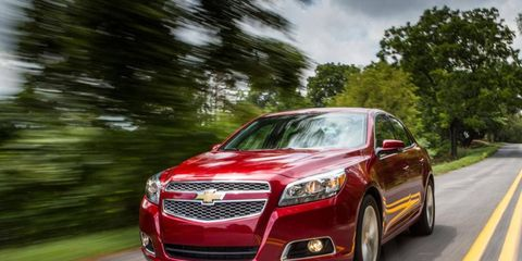 Our 2013 Chevrolet Malibu 2LTZ tester is powered by a 2.0-liter turbocharged four-cylinder engine making 259 hp and 260 lb-ft of torque.