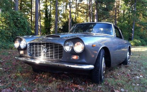 This 1963 Lancia Flaminia GT with a body by Touring is featured at Bring a Trailer.