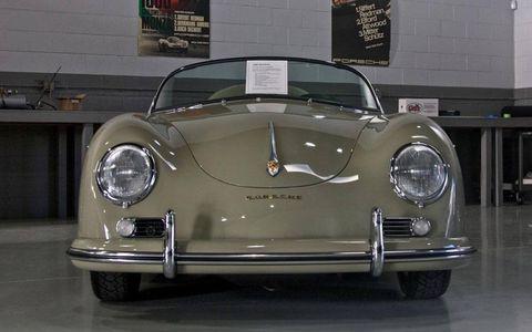 A  freshly restored 1958 Speedster at Willhoit Auto Restoration.