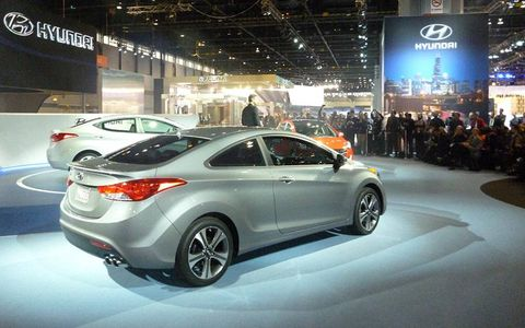Hyundai executive Mike O'Brien introduces the 2013 Elantra coupe and GT.