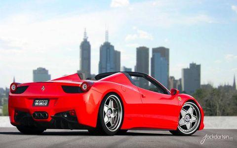Ferrari 458 Italia Spider with HRE 505 wheels