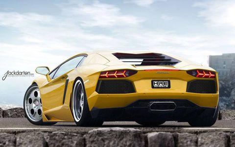 Lamborghini Aventador with HRE 454 wheels