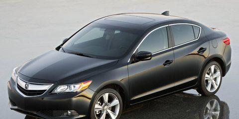 The Acura ILX sedan uses a platform shared with the Honda Civic.