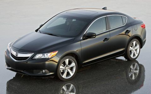 The Acura ILX sedan uses a platform shared with the Honda Civic.