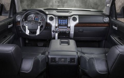 The 2014 Toyota Tundra gets a redesigned instrument panel.