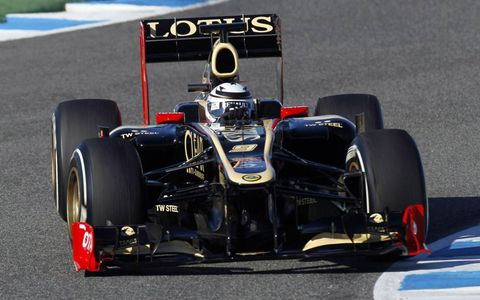 Kimi Räikkönen was quickest in testing on Tuesday at Jerez.