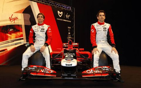 Glock and d'Ambrosio with the new car