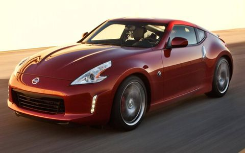Mild changes to the front fascia mark the 2013 Nissan 370Z.