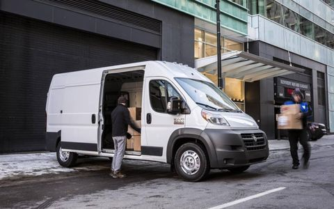 The large sliding side door allows for easy loading and unloading.