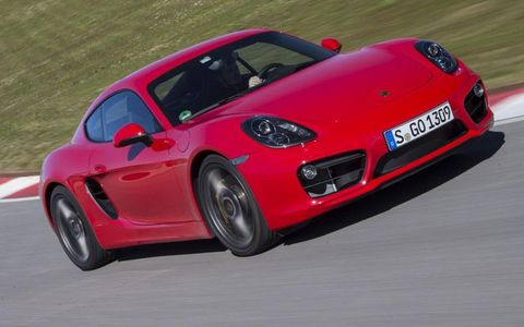 The 2014 Porsche Cayman S has more power and gets better fuel economy.