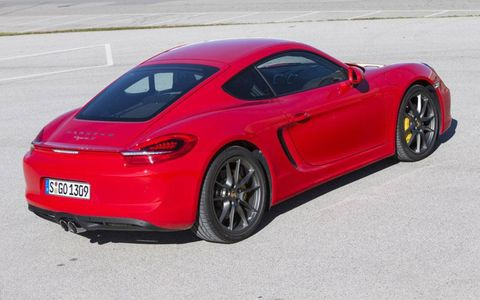 The 2014 Porsche Cayman S has a stiffer and lighter chassis.