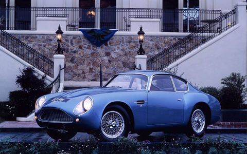 The DB4 GT Zagato was fitted with special, lightweight body work designed by Ercole Spada at Zagato.