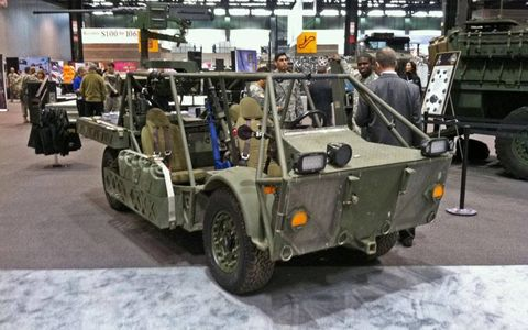 The Clandestine Extended Range Vehicle. Designed for reconnaissance, targeting and rescue missions, the CERV uses a diesel-electric hybrid to reach speeds of up to 80 mph.
