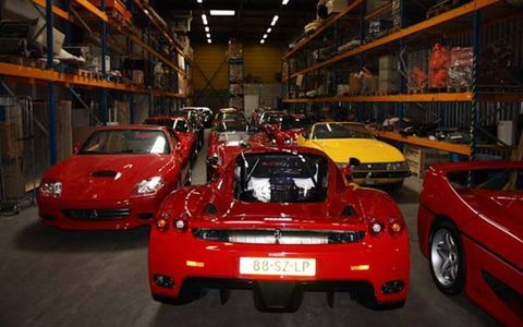 21 vintage Ferraris were sold to Tom Price of California