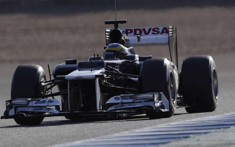 Bruno Senna participated in day three of the Formula One test at Jerez.