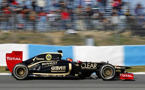 Romain Grosjean was second quickest during testing at Jerez on Thursday.