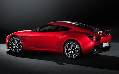 The body of the Aston Martin V12 Zagato mixes aluminum and carbon fiber.