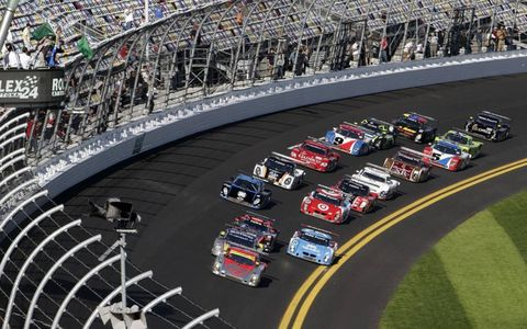 The start of the Rolex 24 at Daytona International Speedway, Jan. 29-30.