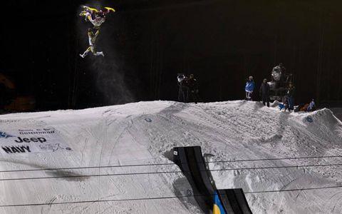 Colten Moore stretches his legs during the 2012 Winter X Games in Aspen, Colo.