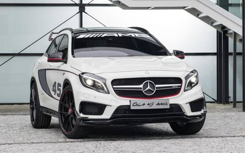The 2015 Mercedes-Benz GLA45 AMG will be out later this year.