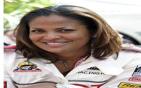 """She's a decent racer but her father had to have been """"The Greatest""""ANSWER: Laila Ali"""