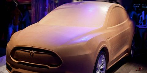The clay model used by Tesla's design team while styling the Model X