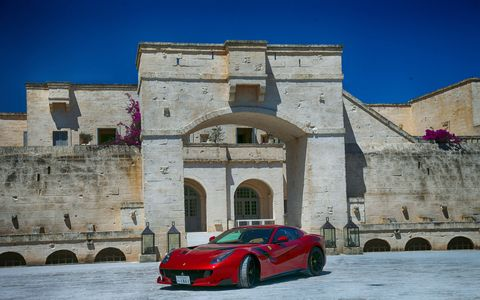 Over 100 great modern Ferraris paraded around the boot heel of Italy in celebration of the 70th anniversary of the marque.