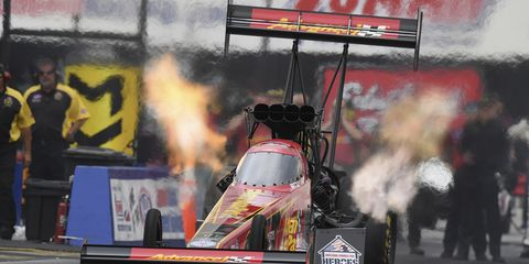 Brittany Force piloted her Monster Energy/Advance Auto Parts dragster to a 3.776-second pass at 324.44 mph.