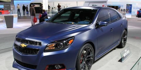 Chevy debuted the turbo-version of the Malibu with this matte finish at SEMA before showing it off in Chicago.