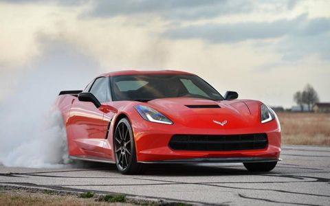 The The Hennessey HPE700 Twin Turbo Corvette debuts in Boca Raton later this month.
