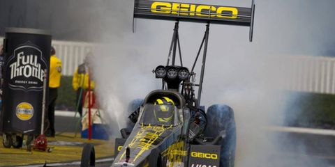 Morgan Lucas led the Top Fuel qualifying efforts on Saturday.