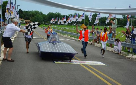Solar-car competition, July 2010.