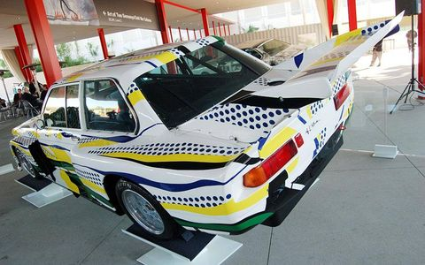 We're not supposed to chose favorites but we've always liked Roy Lichtenstein's 1977 Group 5 320i.