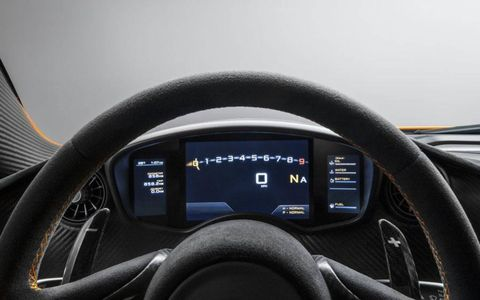 The electronic gauge cluster of the McLaren P1.