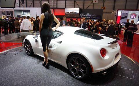 The Alfa Romeo 4C debuted at the Geneva motor show on Tuesday.