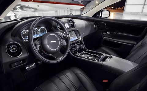 In the 2013 Jaguar XJ 3.0 Supercharged premium options include a leather-wrapped steering wheel, and jet seats.