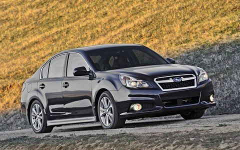 Under the hood, the 2014 Subaru Legacy 2.5i Sport sports a 2.5-liter DOHC engine.
