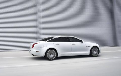 The 2013 Jaguar XJ 3.0 has a supercharged 3 liter V6.