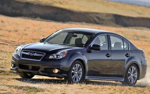 Total output for the 2014 Subaru Legacy 2.5i Sport tops out at 173-hp and 174 lb-ft of torque.